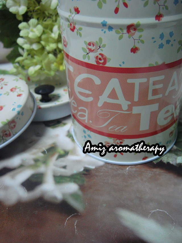 歐陸式花茶罐|fancy tea tin with tea wording in rose style